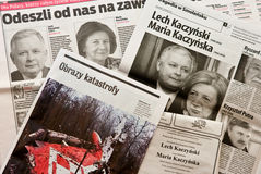 Désastre l'avril 2010 de Smolensk Images libres de droits