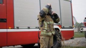 désastre Travail de camion de pompiers sur le feu clips vidéos