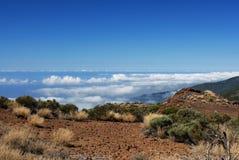 Désert au-dessus des nuages Photo libre de droits