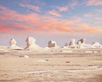 Désert blanc en Egypte Photo stock