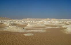 Désert blanc en Egypte, près de Farafra Image stock
