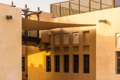 Désert carré du Moyen-Orient d'architecture construisant Deta extérieur image libre de droits