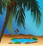 désert d'oasis illustration stock