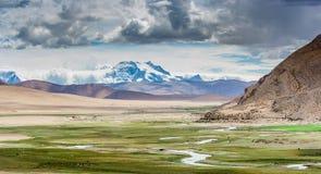 Désert dans le plateau du Thibet Photo libre de droits