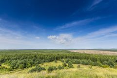 Désert de Bledow, un secteur des sables entre Bledow et le village de Chechlo et Klucze en Pologne Photo stock