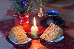 Désert de bonbon à Noël Photos libres de droits