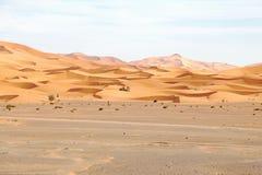 Désert de Chebbi d'erg au Maroc Image stock