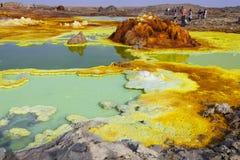 Désert de Dalol en Ethiopie images libres de droits