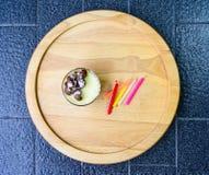 Désert de gâteau de beurre Photographie stock