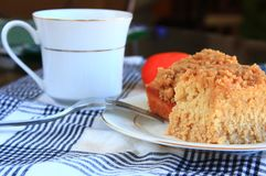 Désert de gâteau de miette de petit déjeuner Photo libre de droits