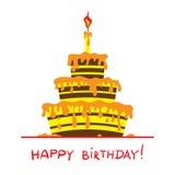 Désert de joyeux anniversaire illustration stock