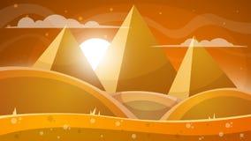 Désert de Judean Pyramide et soleil Image stock