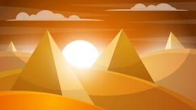 Désert de Judean Pyramide et soleil Photo libre de droits