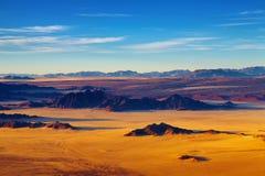 Désert de Namib, vue aérienne Image libre de droits