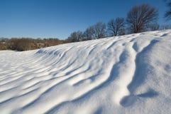 Désert de neige Images libres de droits
