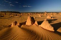 Désert de pinacles Parc national de Nambung cervantes Australie occidentale l'australie photographie stock libre de droits