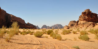 Désert de rhum de Wadi photo stock