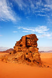 Désert de rhum de Wadi en Jordanie Photos libres de droits