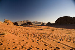 Désert de rhum de Wadi, Jordanie photographie stock libre de droits