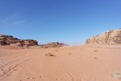Désert de rhum de Wadi, Jordanie Image stock