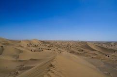 Désert de sable derrière Varzaneh Images libres de droits