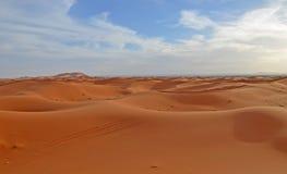 Désert de Sahara, Maroc Photos stock