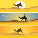 Désert de Sahara scénique illustration de vecteur