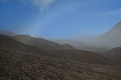 Désert de Sandy autour de bâti Bromo Image libre de droits