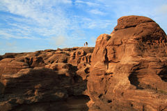 Désert de sarid de terre de désert Photo stock