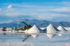 Désert de sel de Grandes de salines dans le Jujuy, Argentine Photographie stock libre de droits