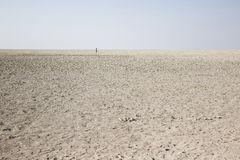 Désert de sel en Namibie Photos stock