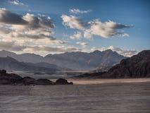Désert de Sinai près de coucher du soleil Image stock