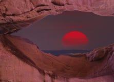 Désert du Negev au coucher du soleil, Israël image stock