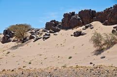 Désert du Sahara près de Tata Photo stock