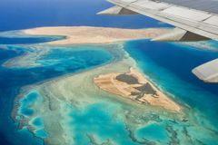 Désert, Egiped, sable, avion image stock