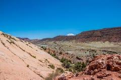 Désert en pierre Utah Désert Moab, parc national de voûtes Photographie stock