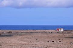 désert et coeur d'océan Photographie stock libre de droits