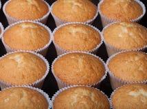 Désert frais de petit gâteau avant décoration Foyer sélectif photos stock