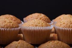 Désert frais de petit gâteau avant décoration Foyer sélectif shallow Images libres de droits