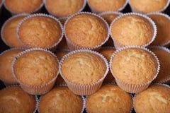 Désert frais de petit gâteau avant décoration Foyer sélectif shallow image libre de droits