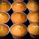 Désert frais de petit gâteau avant décoration Foyer sélectif toned photographie stock libre de droits