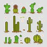 désert fuerteventura Espagne de cactus Illustration de vecteur éléments d'un logo d'entreprise Images libres de droits
