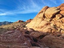 Désert, Las Vegas, roche rouge Photographie stock