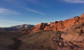 Désert, Las Vegas, roche rouge Photo stock