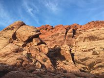 Désert, Las Vegas, roche rouge Photos stock