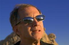 Désert-lunettes de soleil Photos libres de droits