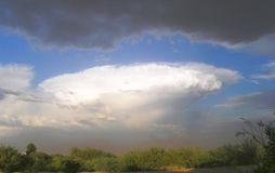 Désert orageux Moonson Photos stock