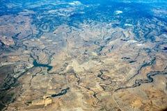 Désert près de panorama de paysage urbain de vue aérienne de Mexico Photos libres de droits