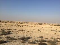 Désert qatari Images stock