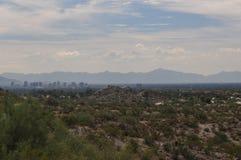 Désert rêveur de vert d'aspiration avec Phoenix Arizona Images libres de droits